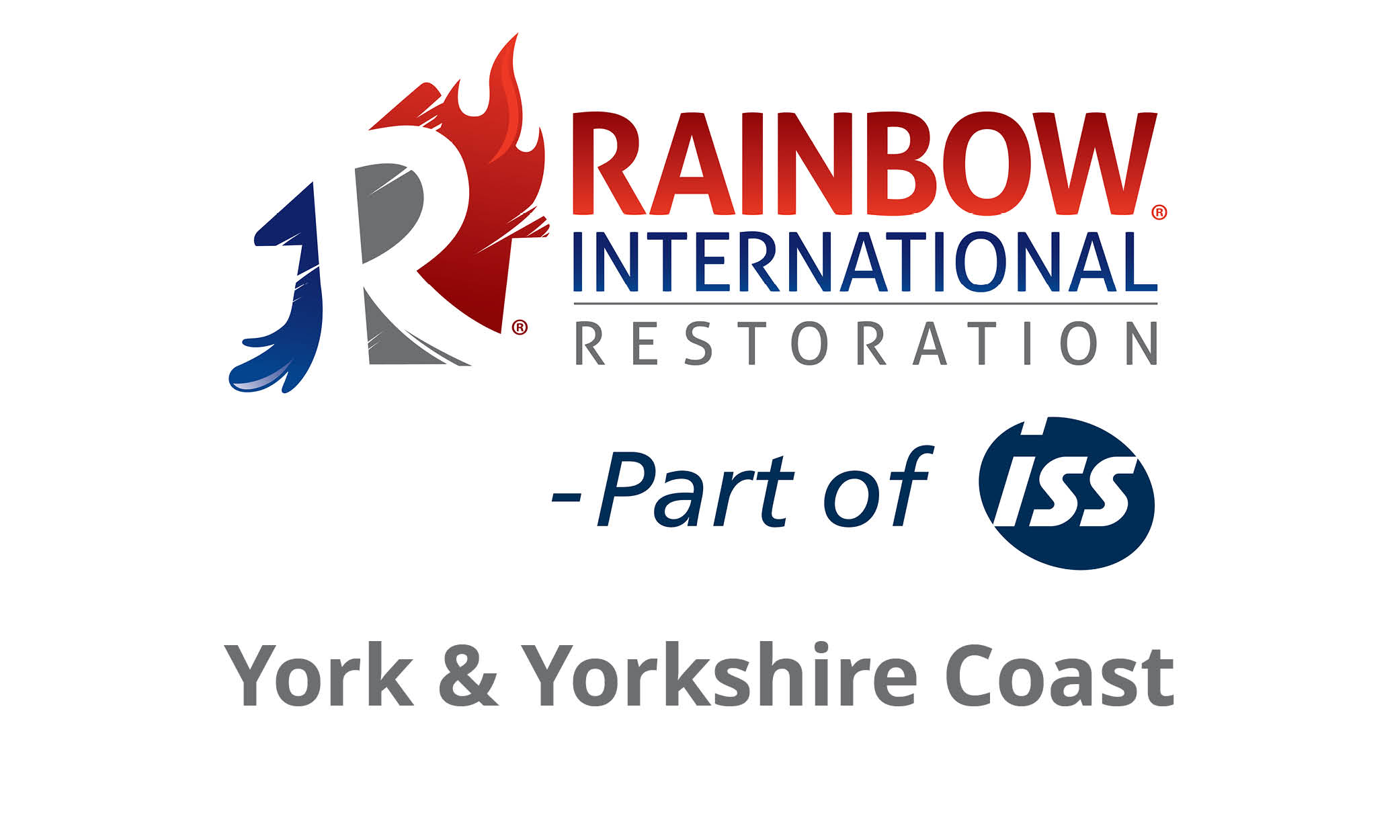 Rainbow International York Yorkshire Coast Logo New
